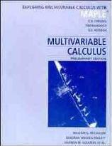 Multivariable Calculus: Exploring Multivariable Calculus with MAPLE