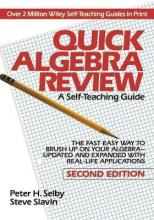 Quick Algebra Review