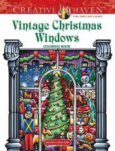 Creative Haven Vintage Christmas Windows Coloring Book