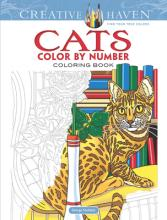Creative Haven Cats Color by Number Coloring Book