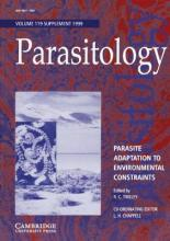 Parasitology: Parasite Adaptation to Environmental Constraints Series Number 119