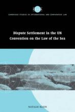 Cambridge Studies in International and Comparative Law: Dispute Settlement in the UN Convention on the Law of the Sea Series Number 39