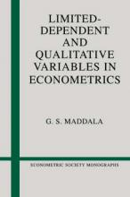 Econometric Society Monographs: Limited-Dependent and Qualitative Variables in Econometrics Series Number 3
