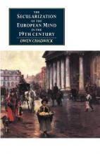 Canto original series: The Secularization of the European Mind in the Nineteenth Century