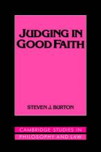 Judging in Good Faith