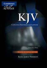 KJV Concord Reference Bible, Black Edge-lined Goatskin Leather, Red Letter Text KJ566:XRE Black Goatskin Leather RCD266: Authorized King James Version Concord Reference Bible with Concordance, Dictionary and Family Record