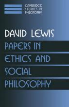Cambridge Studies in Philosophy Papers in Ethics and Social Philosophy: Volume 3