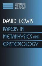 Papers in Metaphysics and Epistemology Volume 2: v. 2