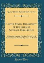 United States Department of the Interior National Park Service