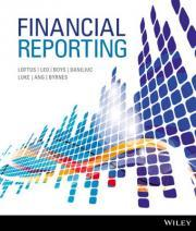 Financial Reporting 1st Edition Wileyplus Stand-Alone Card