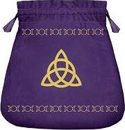 Triple Goddess Velvet Tarot Bag