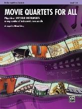 Movie Quartets for All, B-Flat Clarinet/Bass Clarinet, Level 1-4