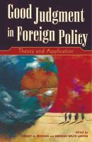 Good Judgment in Foreign Policy