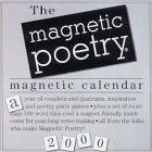 Magnetic Poetry: Magnetic Calendar for 2000