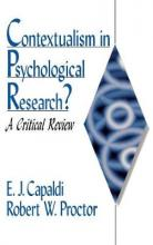 Contextualism in Psychological Research?