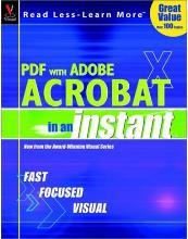 Pdf with Adobe Acrobat X in an Instant