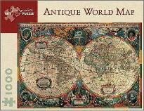 Antique World Map 1,000-Piece Jigsaw Puzzle Aa603