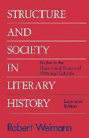 Structure and Society in Literary History