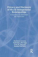 Privacy and Disclosure of Hiv in interpersonal Relationships