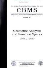 Geometric Analysis and Function Spaces Expository Lectures