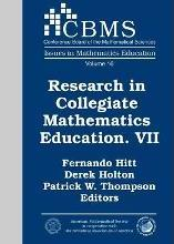 Research in Collegiate Mathematics Education. VII: VII