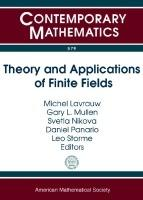 Theory and Applications of Finite Fields