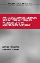 Partial Differential Equations And Systems Not Solvable With Respect To The Highest-Order Derivative