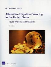 Alternative Litigation Financing in the United States