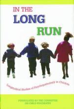 In the Long Run...Longitudinal Studies of Psychopathology in Children
