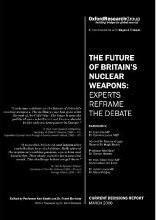 The Future of Britain's Nuclear Weapons