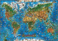 Children's Animals of the World Wall Map
