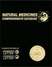 Natural Medicines Comprhensive Database3rd Editio