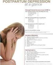 Postpartum Depression at a Glance Poster