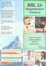 RSL 11+ Comprehension: Practice Papers with Detailed Answers and Question-by-Question Feedback for 11+ / KS2 English Volume 2