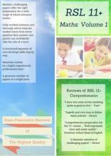 11+ Maths by RSL: Practice Papers with Detailed Answers & Explanations for 11 Plus / KS2 Maths Volume 1