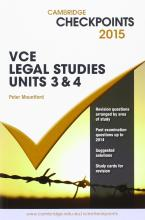 Cambridge Checkpoints VCE Legal Studies Units 3 and 4 2015 and Quiz Me More
