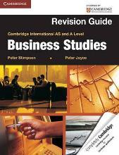 Cambridge International AS and A Level Business Studies Revision Guide