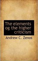 The Elements Og the Higher Criticism