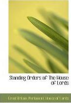 Standing Orders of the House of Lords