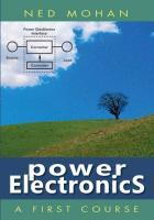 Power Electronics a First Course