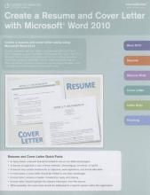 Create a Resume and Cover Letter with Microsoft Word 2010 Coursenotes