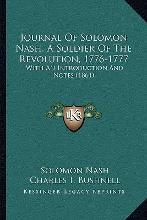 Journal of Solomon Nash, a Soldier of the Revolution, 1776-1777