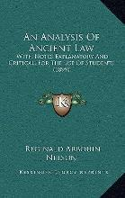 An Analysis of Ancient Law