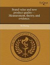 Brand Value and New Product Quality---Measurement