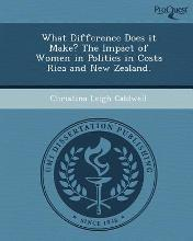 What Difference Does It Make? the Impact of Women in Politics in Costa Rica and New Zealand
