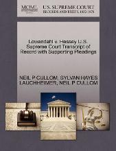 Lowendahl V. Hessey U.S. Supreme Court Transcript of Record with Supporting Pleadings