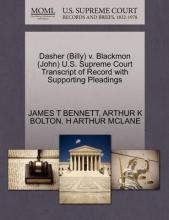 Dasher (Billy) V. Blackmon (John) U.S. Supreme Court Transcript of Record with Supporting Pleadings