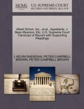 Albert Simon, Inc., et al., Appellants, V. Bess Myerson, Etc. U.S. Supreme Court Transcript of Record with Supporting Pleadings