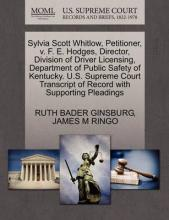 Sylvia Scott Whitlow, Petitioner, V. F. E. Hodges, Director, Division of Driver Licensing, Department of Public Safety of Kentucky. U.S. Supreme Court Transcript of Record with Supporting Pleadings