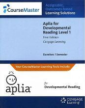 Generic Aplia for Developmental Reading, Low-Level Printed Access Card